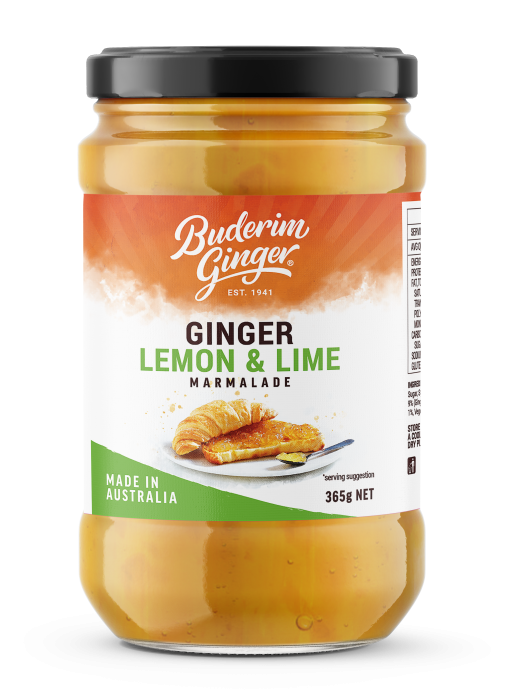 Bud12382 Buderim Packaging Redesign Marmalade Ginger Lemon And Lime Mockup Fop