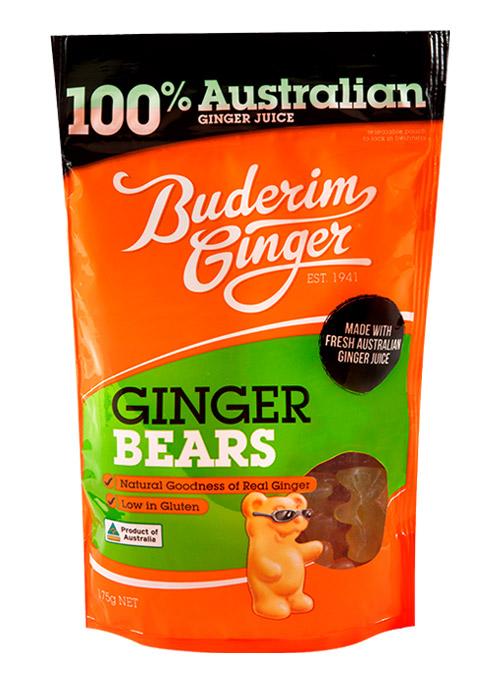 Buderim Ginger Bears 175g 1