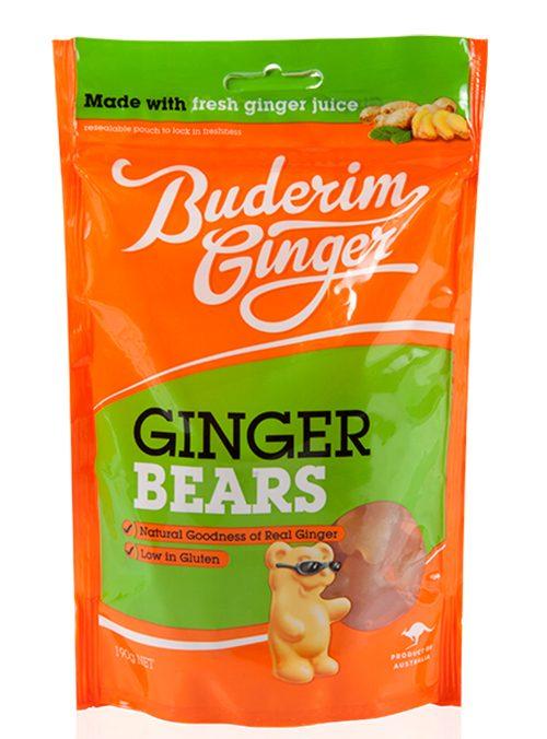 Buderim Ginger Bears 190g