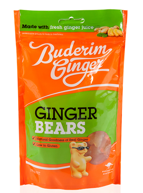 Buderim Ginger Bears 190g