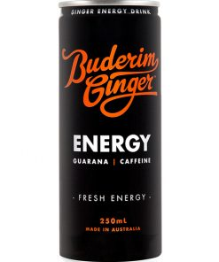 Buderim Ginger Ginger Energy Drink Can 250ml Web