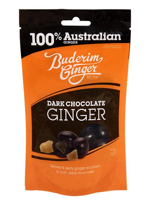 Buderim Dark Chocolate Ginger 150g 1