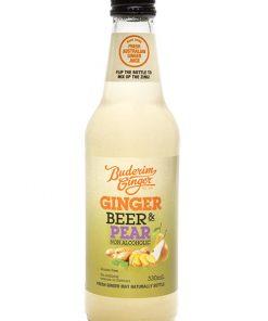 Buderim Ginger Beer Pear Nonalcoholic Bottle 330ml 2