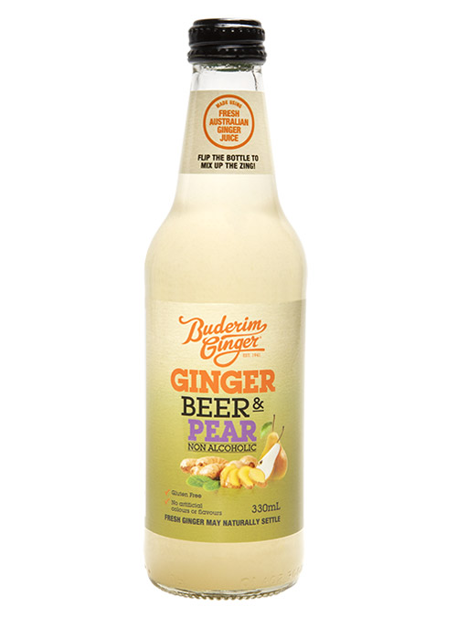 Buderim Ginger Beer Pear Nonalcoholic Bottle 330ml 2