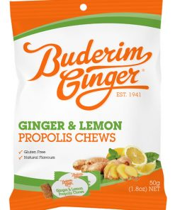 Buderim Ginger Lemon Propolis Chews 50g