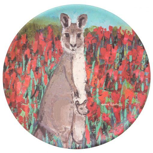 Product Bamboo Fibre Plate Kira The Kangaroo01