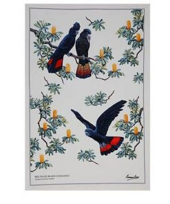Product Tea Towel Black Cockatoo01