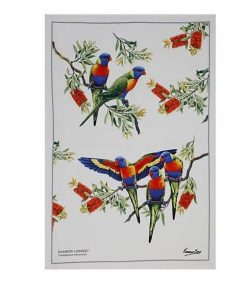 Product Tea Towel Rainbow Lorikeet01