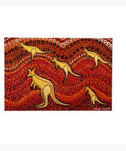 Product A4 Wallprint Kangaroo Sunset01