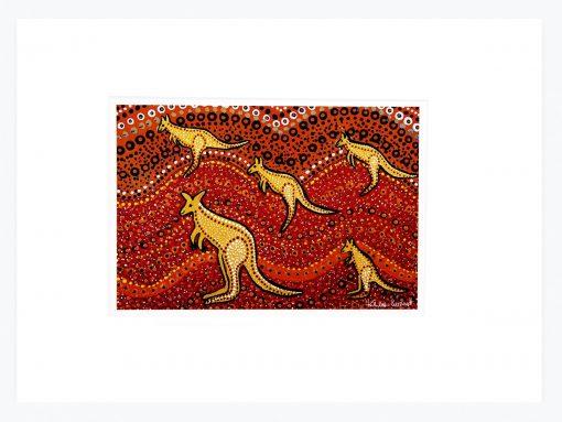 Product A4 Wallprint Kangaroo Sunset01