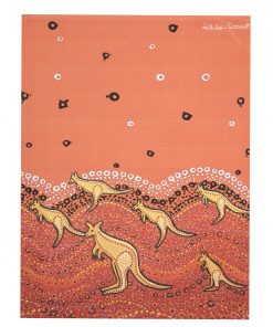 Product Tea Towel Kangaroo Sunset Design01